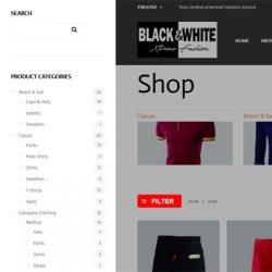 Black & White Solucion de software web para producion de ropa / textiles