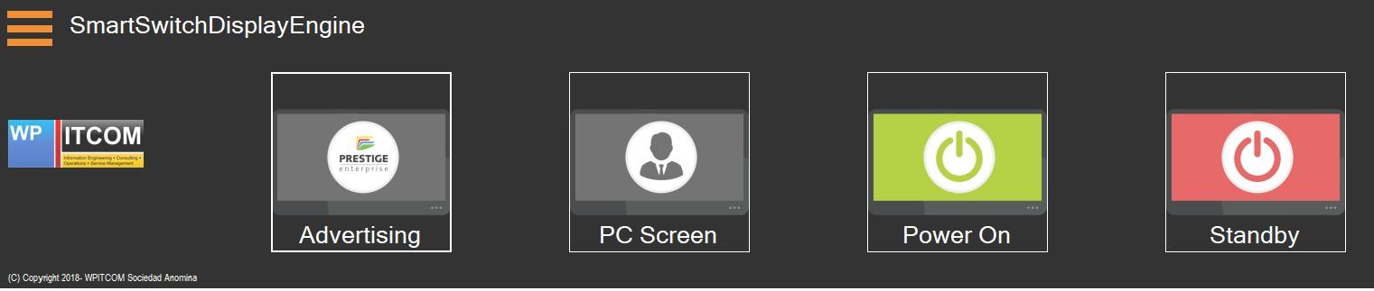 WPITCOM SmartSwitch Customer Screen