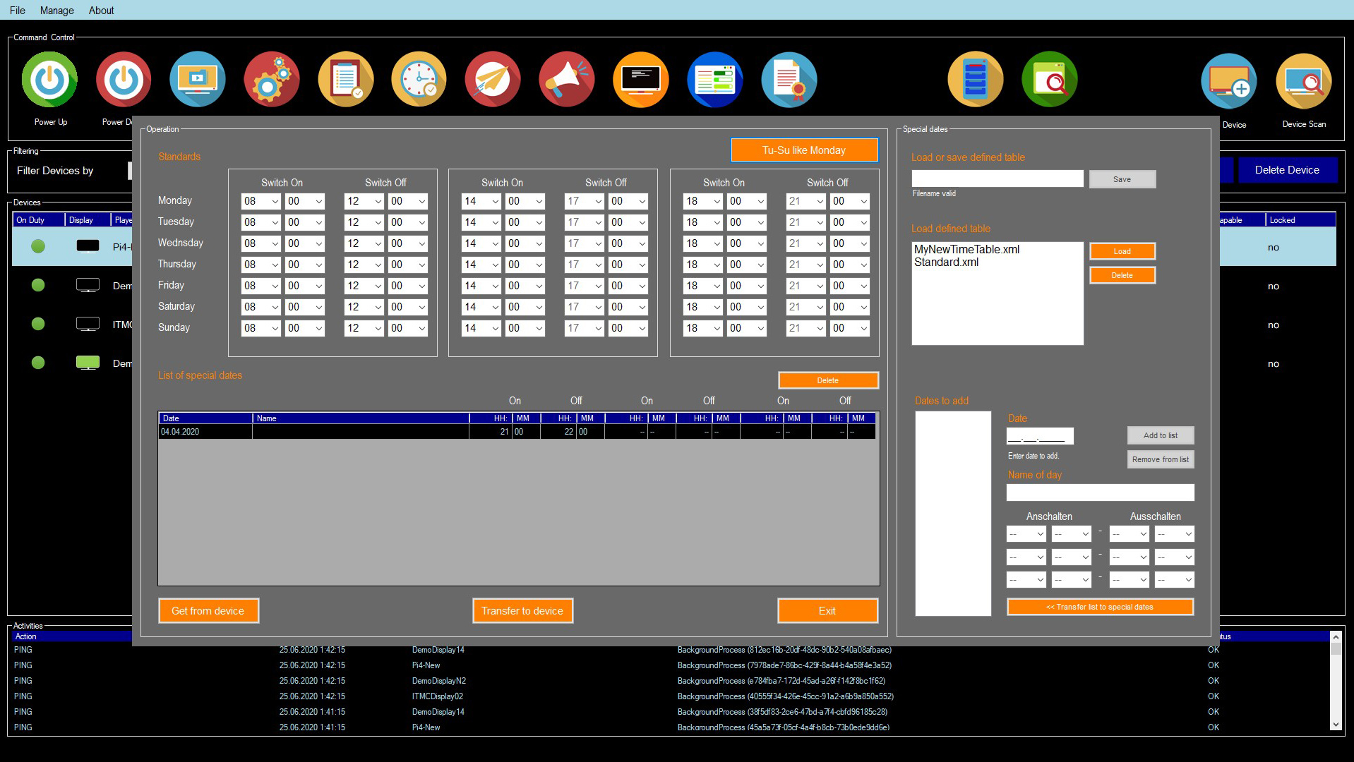 WPITCOM Display Manager 2 Timetable Update